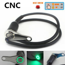 1x CNC Motorcycle Green LED Handlebar Switch Waterproof Horn Engine Start Button