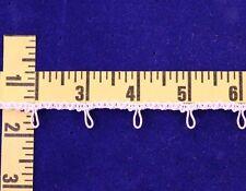"Button Loops Trim Cotton Loop Braid 1/2"" White 3 yds #BG3"