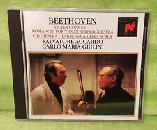 Beethoven Violin Concerto Romances for Violin & Orchestra CD Accardo - Giulini