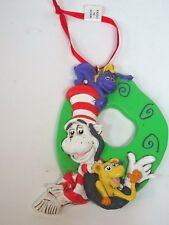 """Adorable Dr Seuss Cat In the Hat Resin Ornament w/Ribbon Hanger* 3.5"""" tall"""