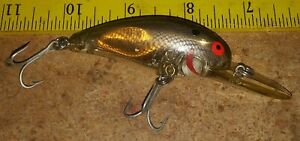 Vintage Bomber Model 7A 2 5/8 in. Silver Reflector Srewtail FISHING Lure Exc.