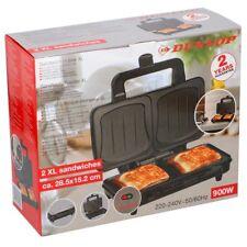 Piastra Elettrica Per Sandwich Toast 900W Acciaio Grill Antiaderente Dunlop Red