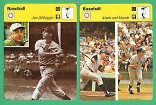 MANTLE MARIS DIMAGGIO SPORTSCASTER CARD LOT 1979 VINTAGE MICKEY ROGER JOE ITALY