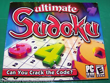 SUDOKU PC GAME - Ultimate Sudoku  PC CDROM   Windows XP   98 & ME