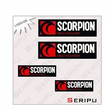 X4 KIT SCORPION LAMINADO ADHESIVO PEGATINA ENDURO STICKER DECAL MOTO G.P.