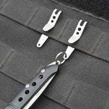 1PC EDC Multi-function Money Clip Belt Hanger Stainless Steel Keychain Key Rings