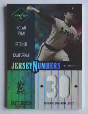 Nolan Ryan 2003 Leaf Limited Jersey Numbers Retired /30 California Angels GU Jsy