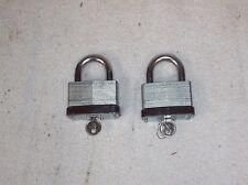 (2) Heavy Duty Belwith Padlocks with Like Keys
