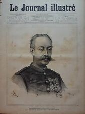 LE JOURNAL ILLUSTRE 1885 N 25 M. LE LIEUTENANT-COLONEL PAUL GUSTAVE HERBINGER