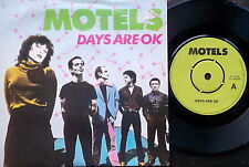 """MOTELS, DAYS ARE OK / SLOW DOWN Capitol CL 16149-UK 7"""" PS 1980-EX"""