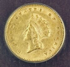 1854 Type 2 $1 One Dollar Gold Coin ANACS AU-55