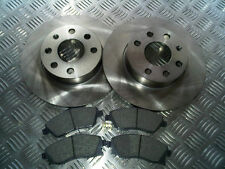 VAUXHALL CORSA C 1.0 1.2 2000-2006 FRONT 2 BRAKE DISCS AND PADS SET NEW (SOLID)