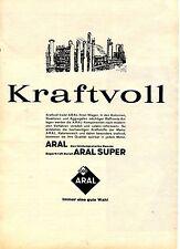 Aral--Kraftvoll--Aral Super -Immer gute Wahl-Werbung von 1963