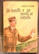 UN MONITO E UN INVITO AL CONVITO Angelo Guida Pia Società San Paolo Militaria di