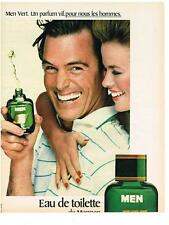 PUBLICITE ADVERTISING  1981  MEN  VERT   un parfum vif