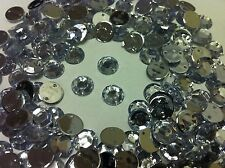 200 Faceted CLEAR Rhinestones Diamante to SEW on - 11mm Gems or Stick with Glue