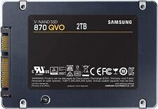 """Samsung 870 QVO 2TB Solid State Drive 2.5"""" 7mm SATA III SSD Series MZ-77Q2T0B/AM"""