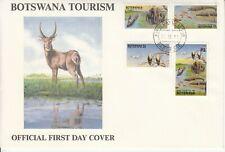 1991 Botswana Tourism eagles elephants FDC