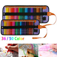 50 Colors Professional Art Drawing Pencils Kit Watercolor Painting Pencil Set US