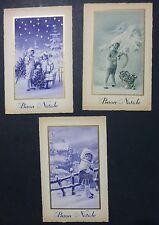 Lot 4 POSTCARDS-CHRISTMAS MERRY CHRISTMAS-Salty years'30-intonse
