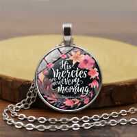 Bible Verse on a Glass Pendant, Quote Necklace, Christian jewelry, Pendant