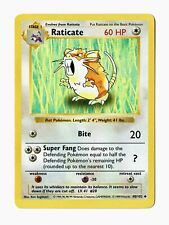 1999 Pokemon Base Shadowless Raticate #40/102 – NM