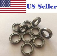 10PCS 6701ZZ Deep Groove Metal Double Shielded Ball Bearing (12mm*18mm*4mm)