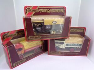 3x Matchbox Models of Yesteryear Y18 1918 Atkinson D & 1922 Foden Steam Lorry