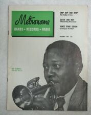 Vintage Metronome Music Magazine December 1949 Roy Eldridge Little Jazz Big Jazz