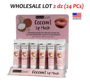 Beauty Treats Coconut Lip Mask - Lip Treatment, WHOLESALE LOT 2 dz (24 PCs)