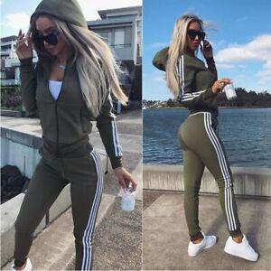 Women's 2 Piece Sets Sportswear Zipper Tracksuit Two Piece Set Sport Lounge Wear