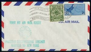 MayfairStamps Pakistan 1961 Karachi to New York PIA First Flight Cover wwk71519