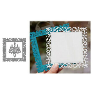 Lace Square Frame Metal Cutting Dies Scrapbook Embossing Stencils Card DIY Craft