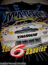 1999-MARK MARTIN 6 FORD TAURUS TATTOO NASCAR SHIRT-L