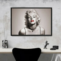 Framed Marilyn Monroe Movie Star Wall Art Poster Print 47 36 24 16 Inches