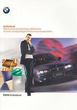 BMW INDIVIDUAL Zubehör Farben E36 E31 E38 E39 Prospekt Brochure 1998 53