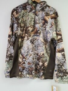 KING'S Camo Men's KC1 1/4 Zip Pullover Hunting Shirt Desert Shadow SZ Large NEW