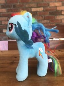 "My Little Pony TY Sparkle Plush Blue Rainbow Dash.  Large 11"", (28cm) tall"