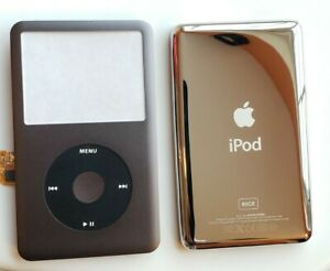 Ipod Classic 6-7th gen 80gb NEW gray faceplate Front Cover clickwheel& backplate