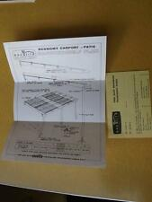 DO IT YOURSELF PLAN CARPORT OR PATIO EXCELITE FIBER GLASS ADVERTISING ORDER CARD