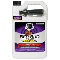 Hot Shot Bed Bug Flea and Dust Mite Killer with Egg Kill 1-Gallon Spray