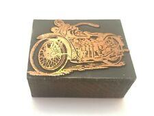 Antique Motorcycle Wood Printers Press Block Indian Harley Davidson Print Letter