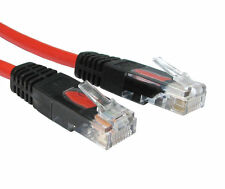 2m Rj45 Cable Cruzado Cat5e Red Ethernet Plomo X En Cruz Con Cable-Rojo