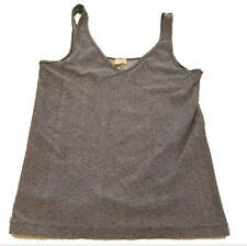 Eloise women tank top Large Blue Sleeveless Stretch gym shirt Athletic FREE Ship
