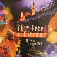 4 Póster World Music Música Mundo 76th Menton Limón Festival 2009 Francia
