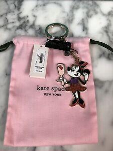 NWT Kate Spade Disney X Minnie Mouse Mirror  Keychain w Dustbag Key Fob