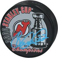 Claude Lemieux New Jersey Devils Signed 2000 Stanley Cup Champs Logo Hockey Puck