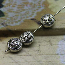 wholesale20/100pcs Delicate Tibet silver dragon bead perforation charm connector