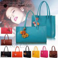 Mode Damen Mädchen Handtaschen Leder Schulter Tasche Candy Farbe Blumen Totes