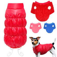 Dog Coats for Small Dogs Thick Fleece Padded Puppy Jacket Waterproof Winter Vest